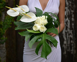'Tropical Elegance' bridesmaid's
