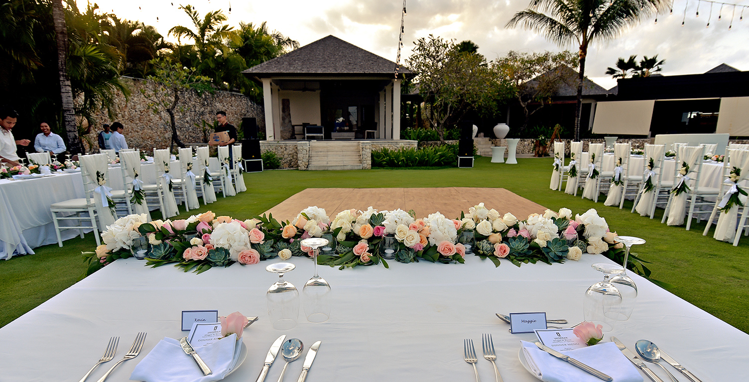 wedding reception decor bali