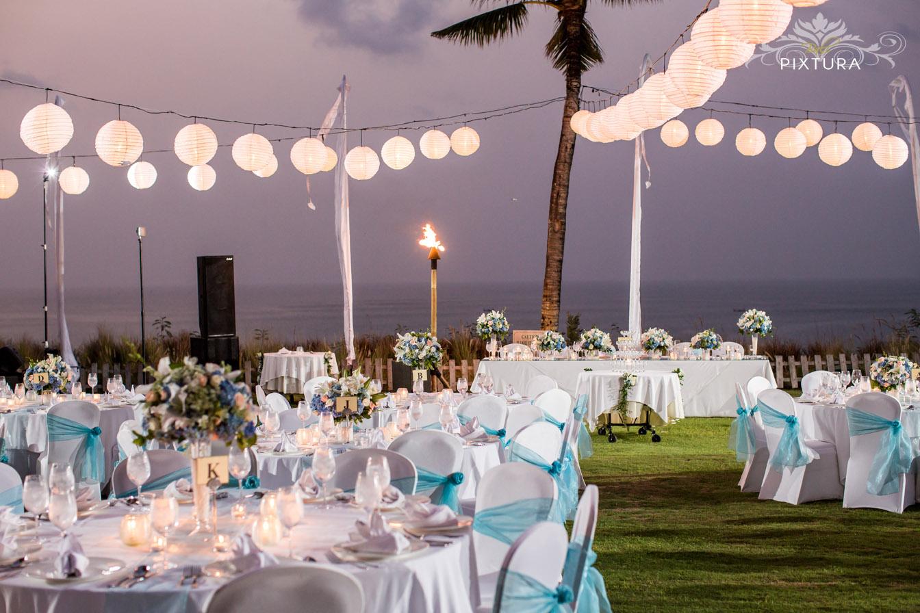 Wedding Reception Decor In Bali Baby Blue Theme Decor