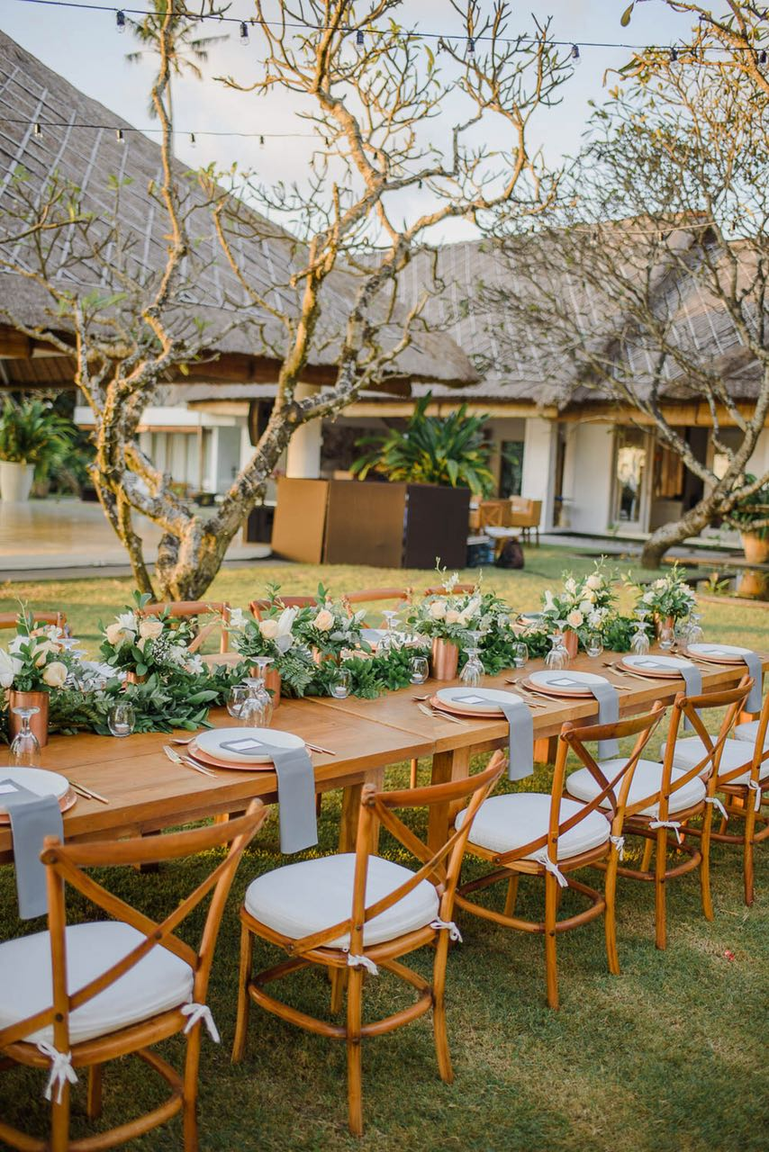 wedding reception decoration in Bali
