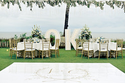 wedding reception at Ayana