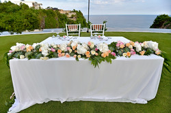 wedding table centre piece bali
