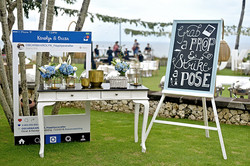 wedding photo booth set-up