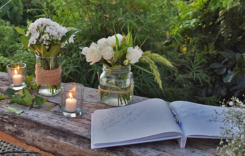 wedding flower detail