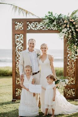 wedding arch in Bali
