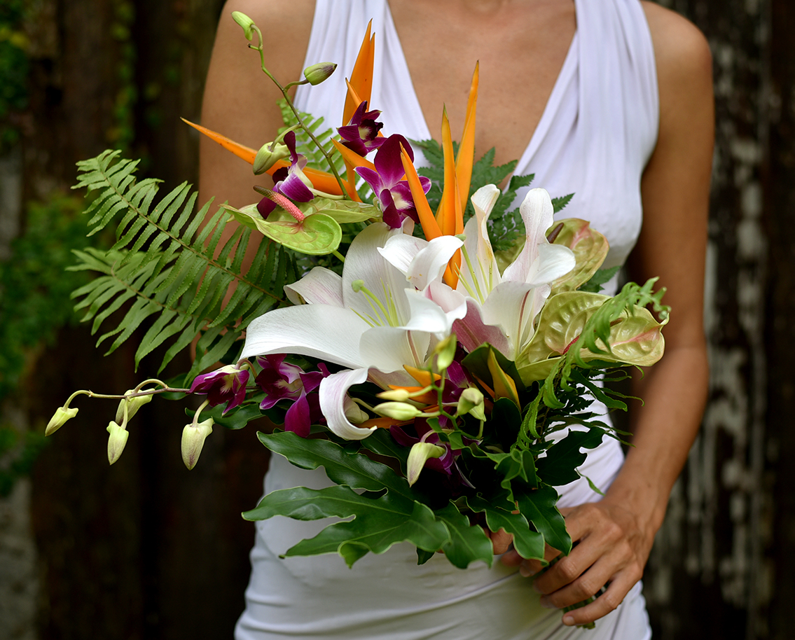 'Tropical Bohemian' bridesmaid's