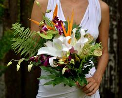'Tropical Bohemian' bridesmaid's