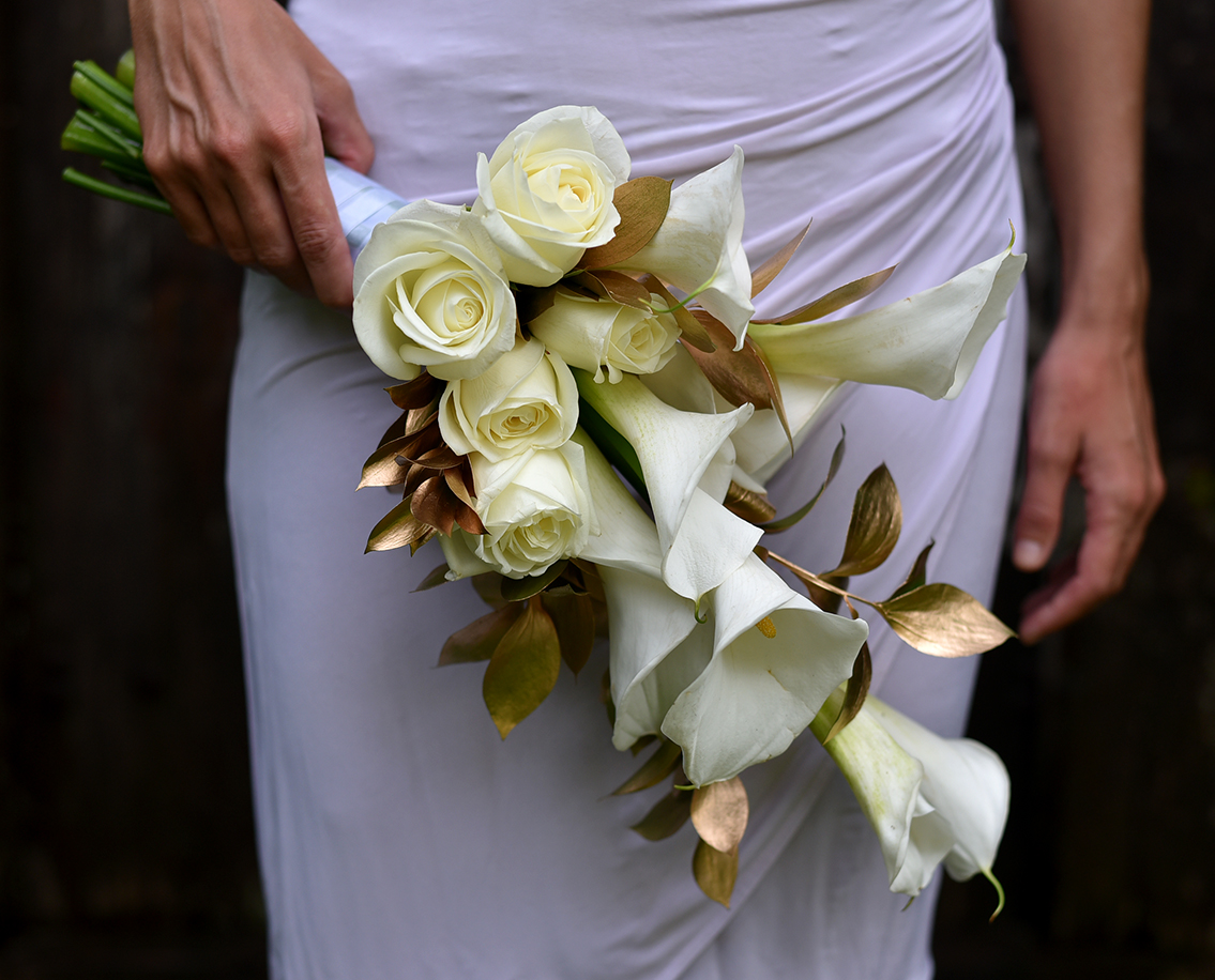 'Gold Touch' bridal bouquet