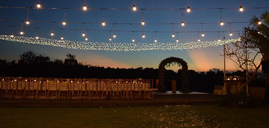 wedding decor lighting bali | www.flowercornerbali.com