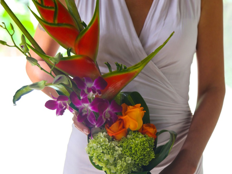 tropical wedding flowers bali