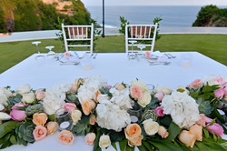 wedding table centerpiece bali