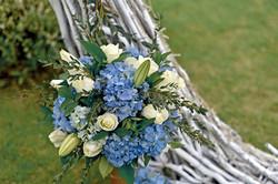 white-blue wedding in Bali