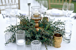 green-gold wedding table