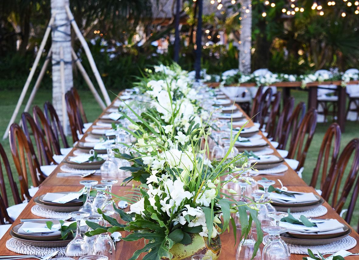 wedding table setup in Bali