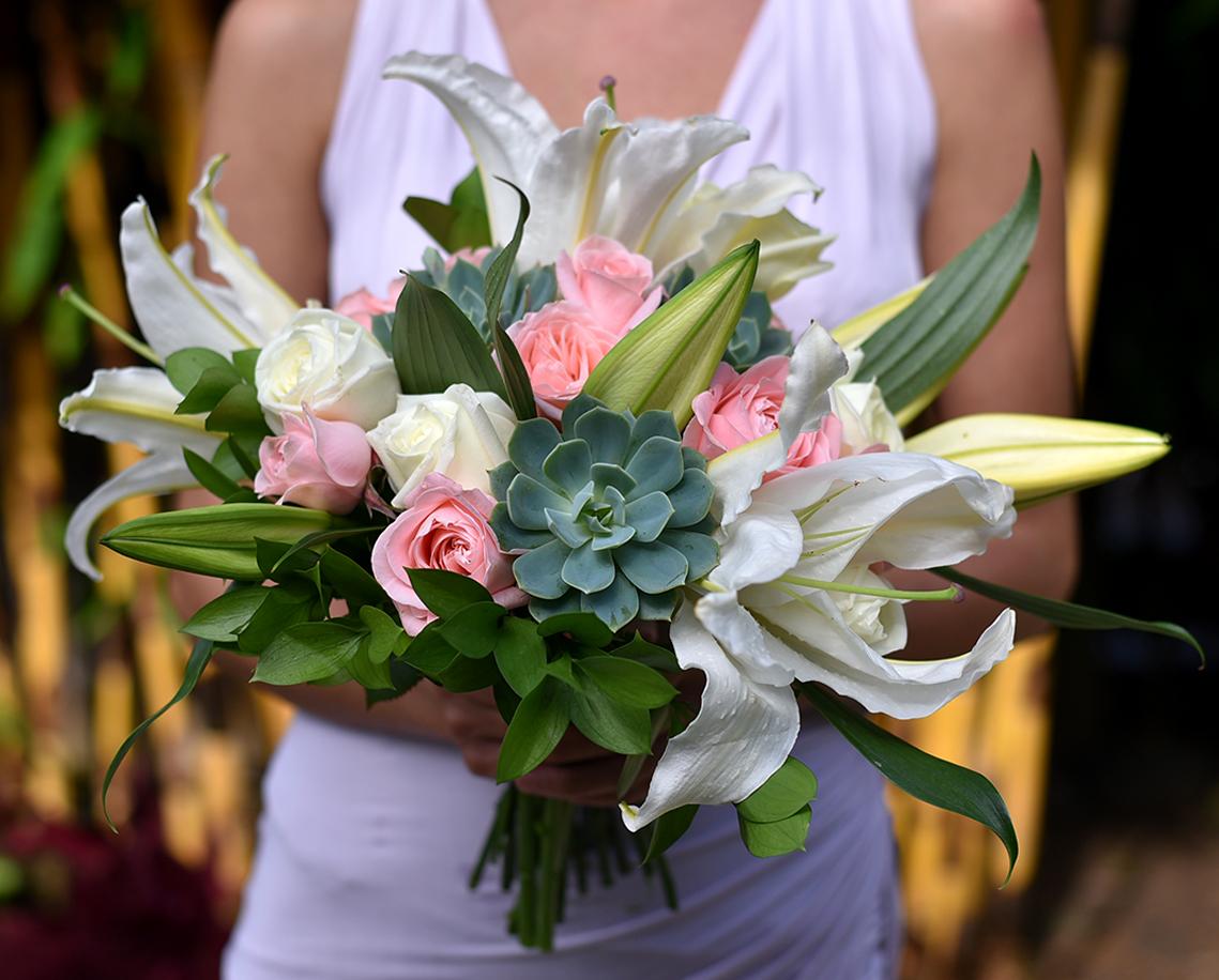 'Pink Romance' bridal