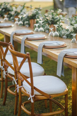 wedding table set-up in Bali