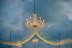 fairy light with chandelliers