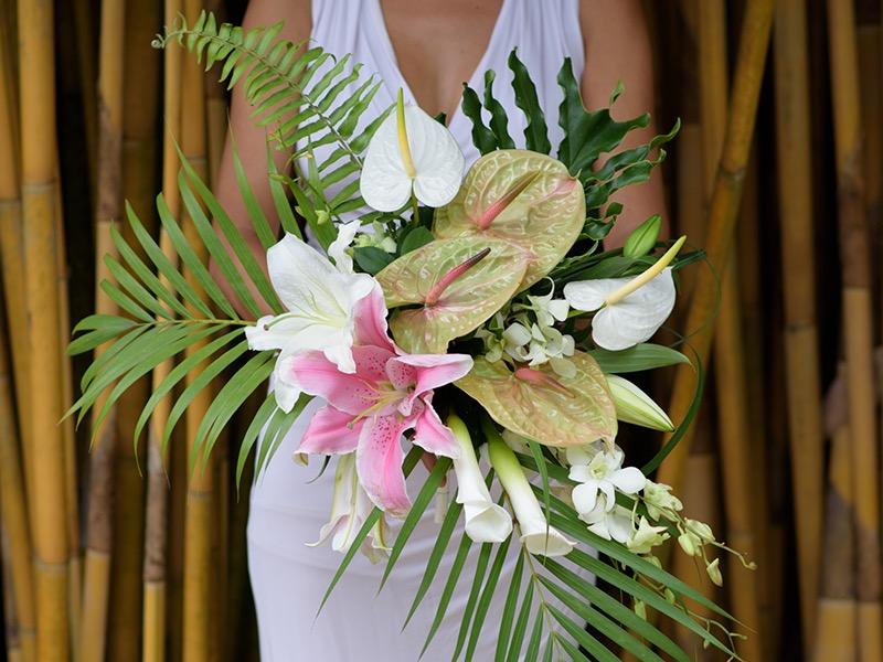 tropical wedding bali