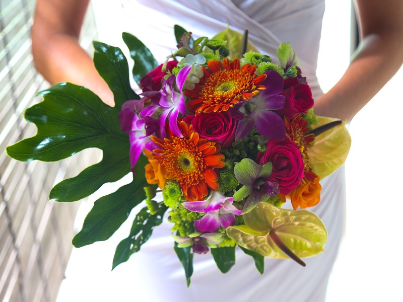 tropical wedding flower bali