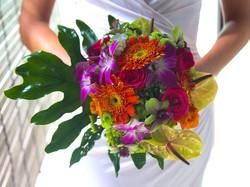 tropical wedding flower bali