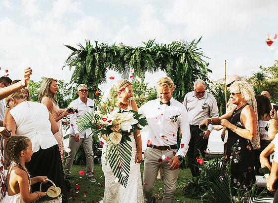 tropica foliage wedding in Bali