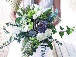 rustic wedding flower bouquet bali