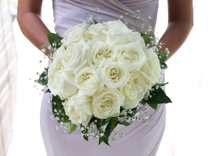 white wedding flower bouquet bali
