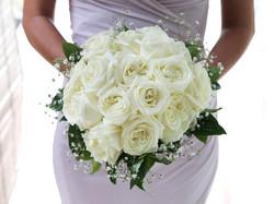 white wedding flower bouquet bali