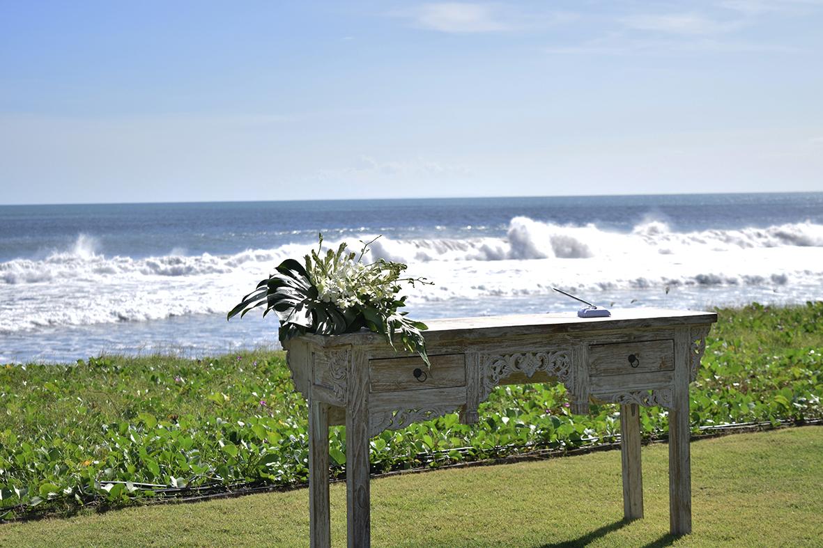 beach-front wedding ceremony