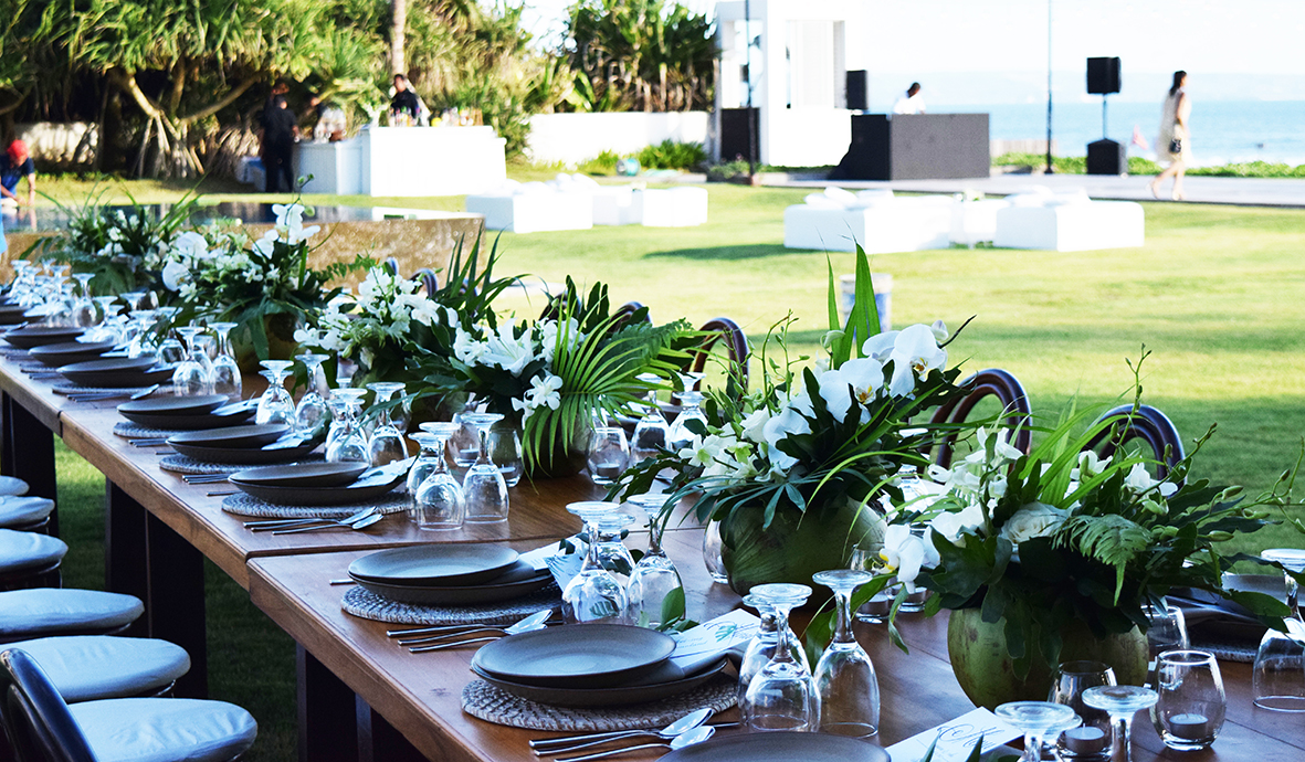 tropical wedding flowers in Bali