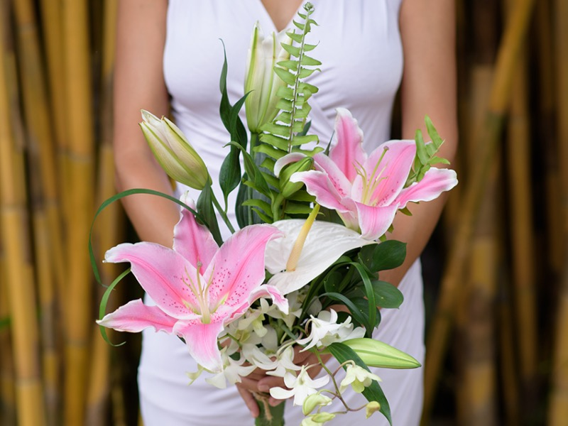 tropical wedding bouquet bali