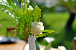 green-white wedding in Bali