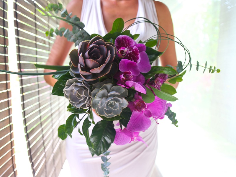 orchid wedding bouquet bali