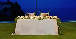 wedding table candles bali