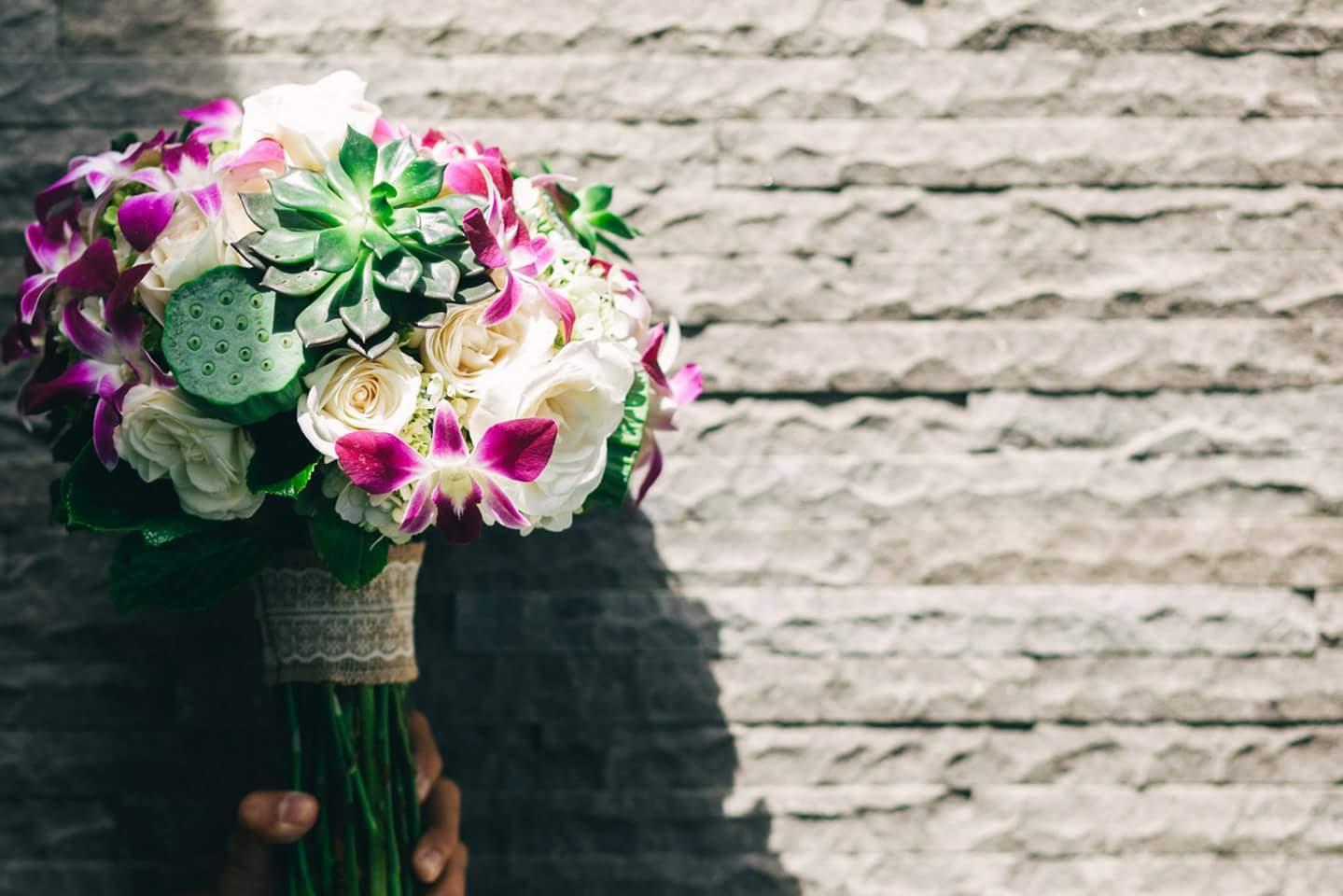 wedding flower bouquet bali