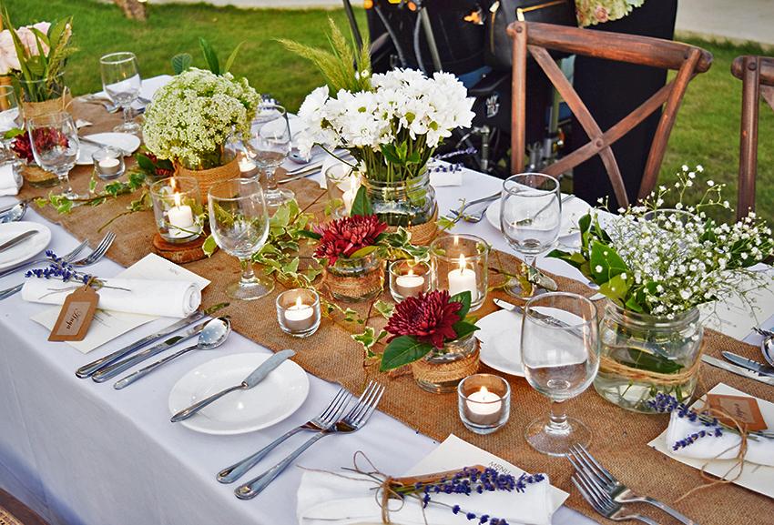 wedding table decoration
