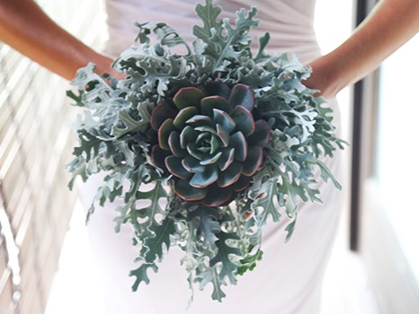 succulent wedding bouquet bali