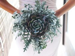 succulent wedding bouquet bali