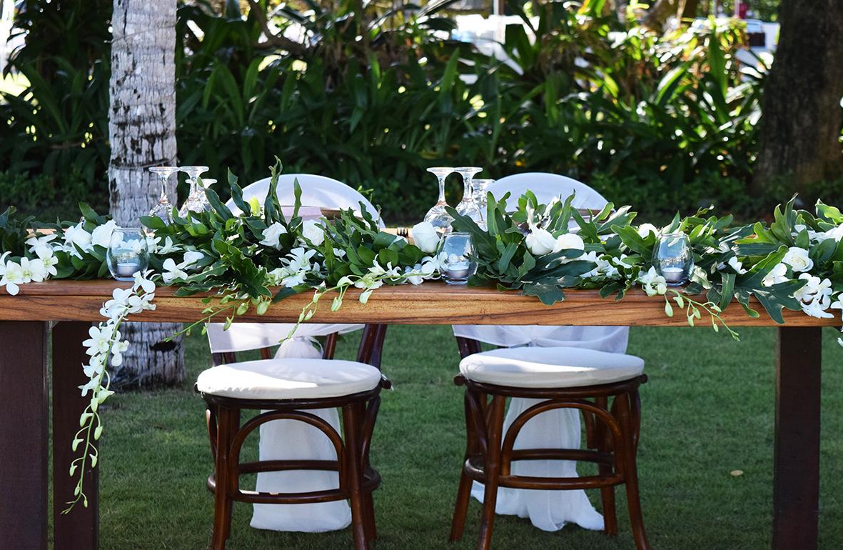 wedding reception decor in Bali
