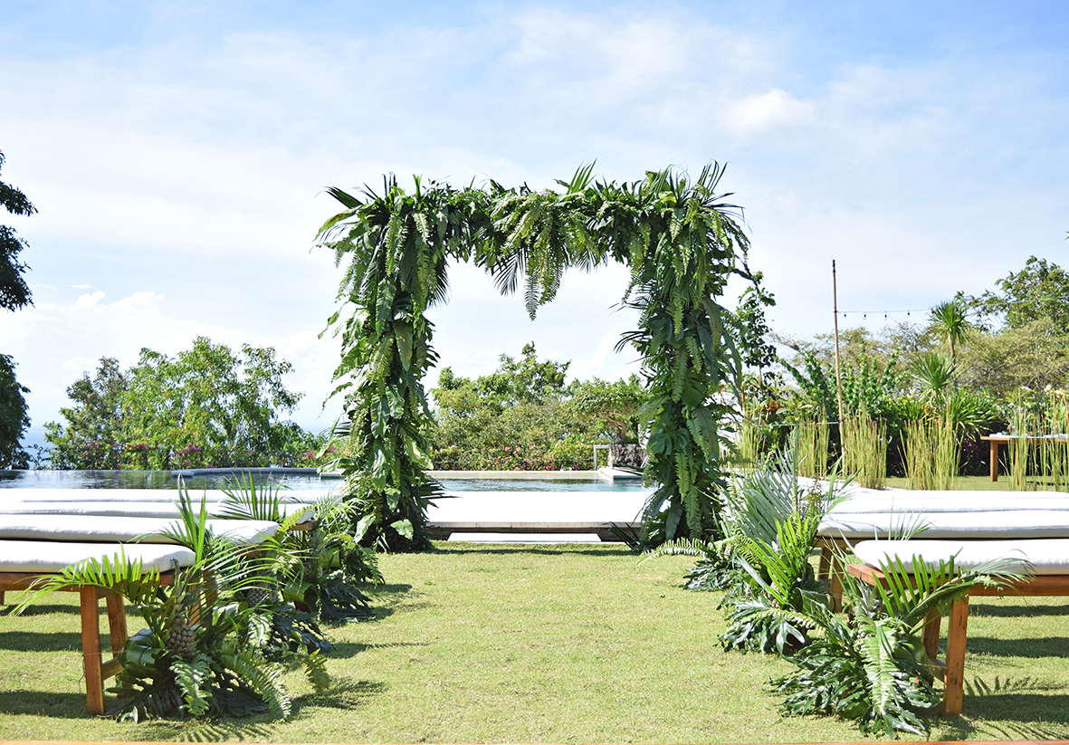 wedding ceremony decor in Bali