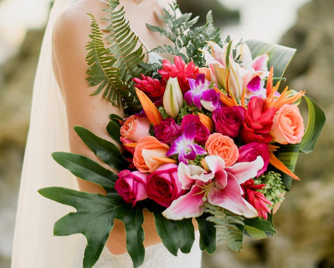 'Tropical Bohemian' bridal