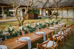 wedding table decor in Bali
