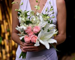 'Pink Romance' bridesmaid