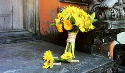 yellow wedding bouquet bali