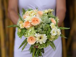 romantic wedding flower bouquet bali