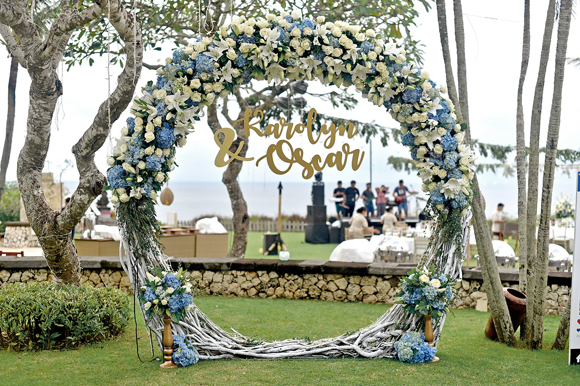 wedding arch in Bali