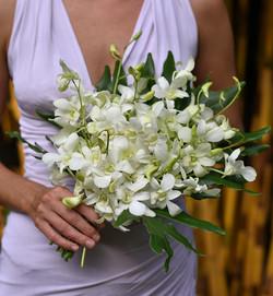 Orchid bridesmaid's bouquet