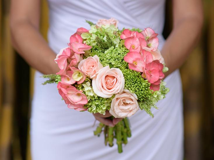 bridesmaid's flower bouquet bali