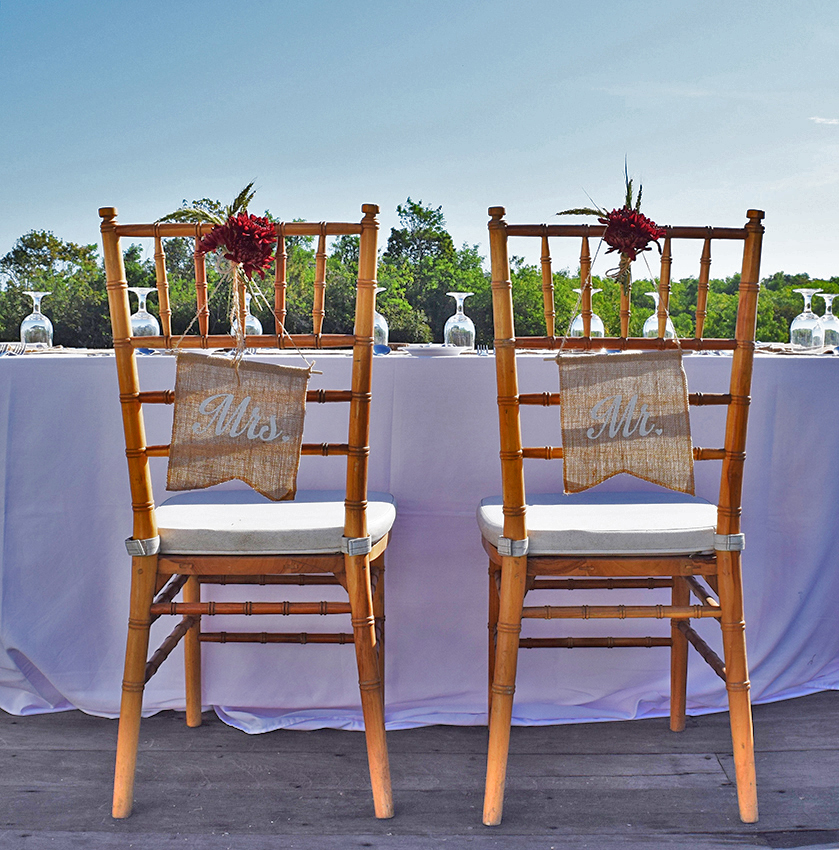 wedding chair Mr & Mrs