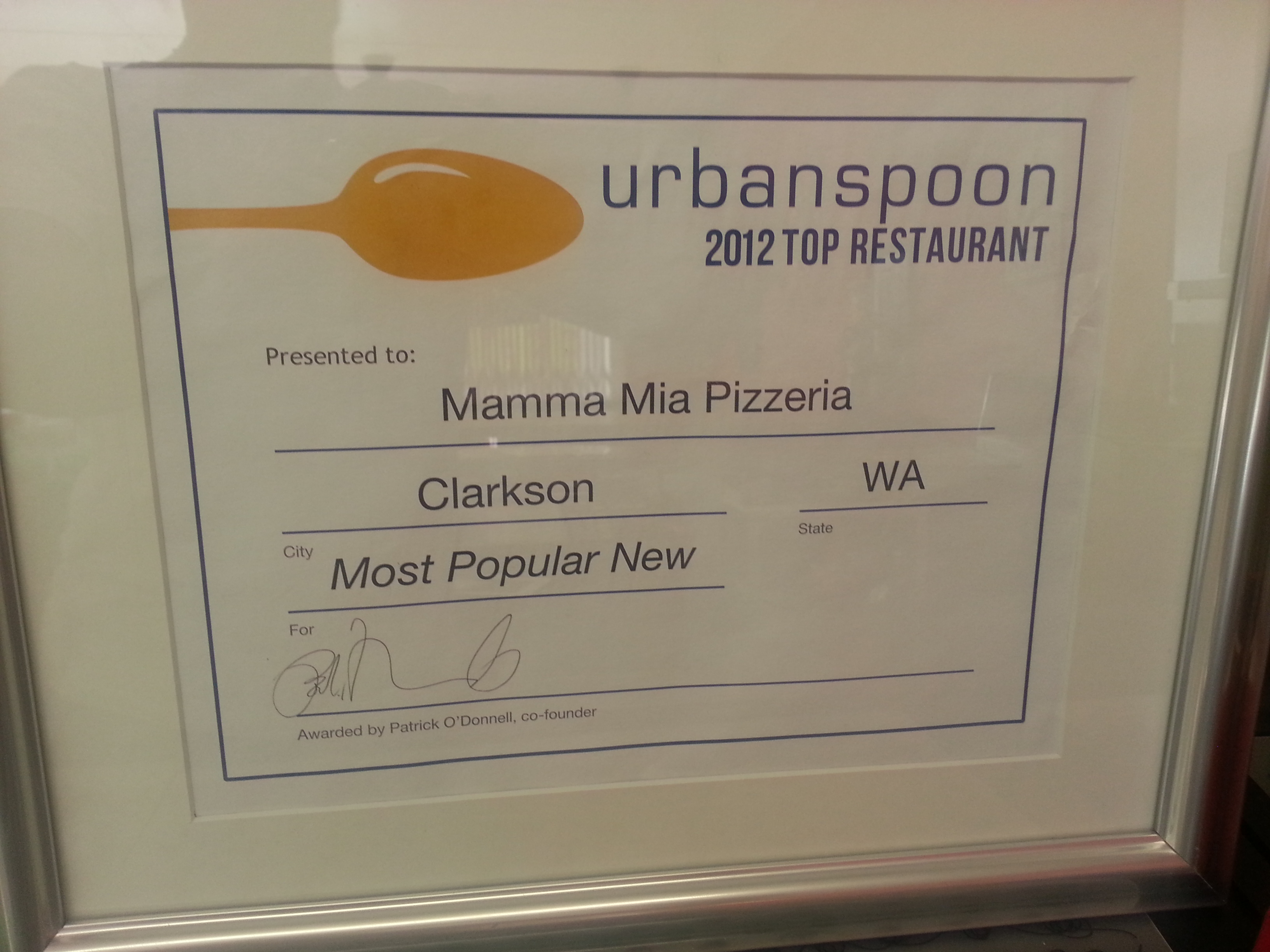 Voted by urbanspoon